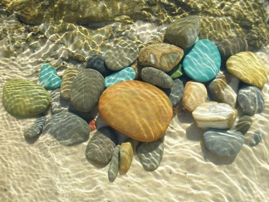 Beach Stones-Mark Goodall-Premium Giclee Print