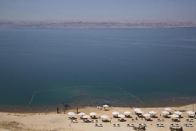 Beach Swimming Area, Crown Plaza Dead Sea Hotel, Dead Sea, Jordan, Middle East-Richard Maschmeyer-Photographic Print