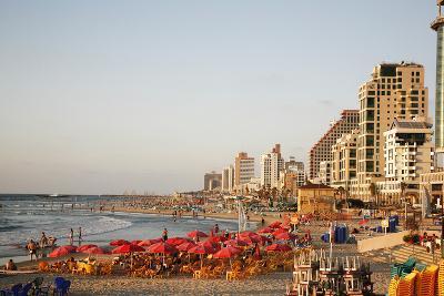 Beach, Tel Aviv, Israel, Middle East-Yadid Levy-Photographic Print