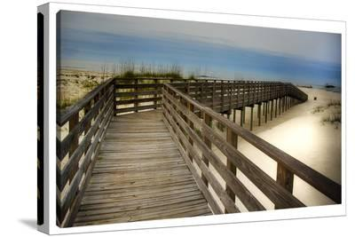 Beach Times--Stretched Canvas Print