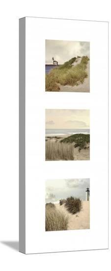 Beach Trio I-Judy Mandolf-Stretched Canvas Print