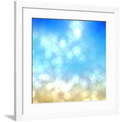 Beach under Sun Shot in Manual Mode Out of Focus-VibrantImage-Framed Art Print