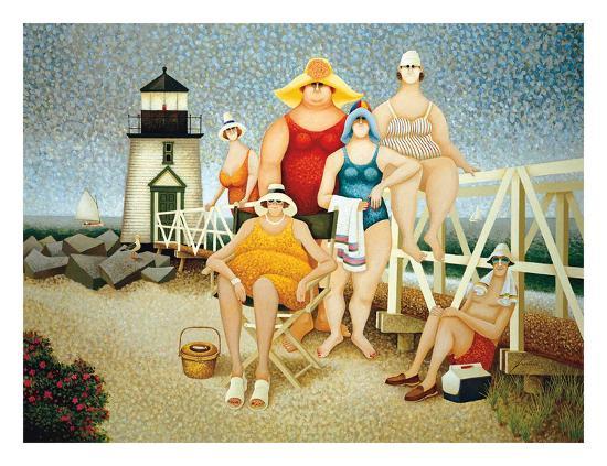Beach Vacation-Lowell Herrero-Art Print