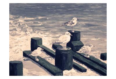 Beach Visitors 1-Donna Sinisgalli-Art Print