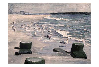Beach Visitors 2-Donna Sinisgalli-Art Print