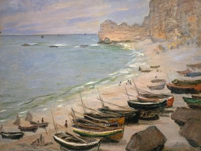 Beach with Boats at Etretat, 1883-Claude Monet-Giclee Print