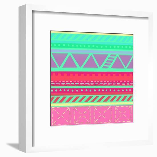 BeachBabeStripes CaraKozik-Cara Kozik-Framed Giclee Print