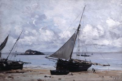Beached Boats at St Jean, 1884-Emmanuel Lansyer-Giclee Print