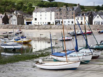 Beached Yachts the Harbour at Stonehaven, Aberdeenshire, Scotland, United Kingdom, Europe-Mark Sunderland-Photographic Print