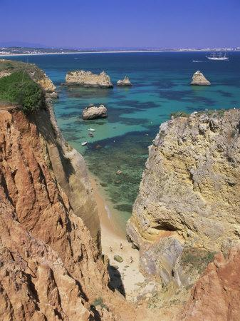 Beaches Near Lagos, Algarve, Portugal, Europe-Gavin Hellier-Photographic Print