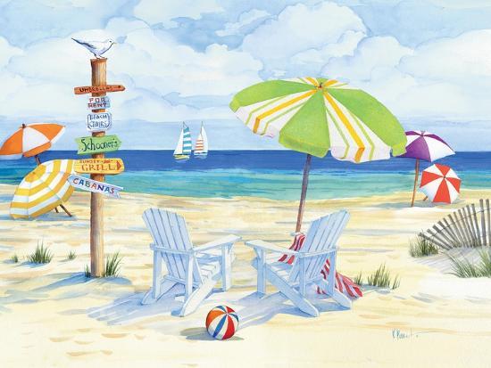Beachside Chairs-Paul Brent-Premium Giclee Print