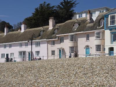 Beachside Cottages Along the Promenade, Lyme Regis, Dorset, England, United Kingdom, Europe-James Emmerson-Photographic Print