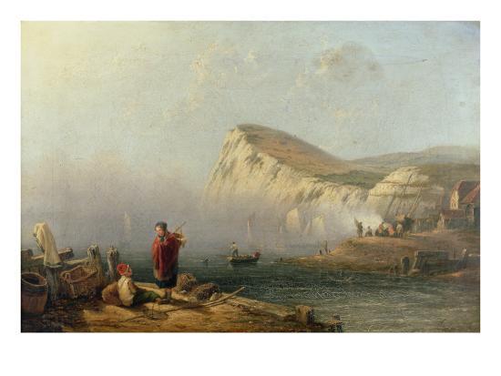 Beachy Head, 1850-John Wilson Carmichael-Giclee Print