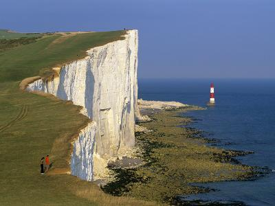 Beachy Head Lighthouse and Chalk Cliffs, Eastbourne, East Sussex, England, United Kingdom, Europe-Stuart Black-Photographic Print