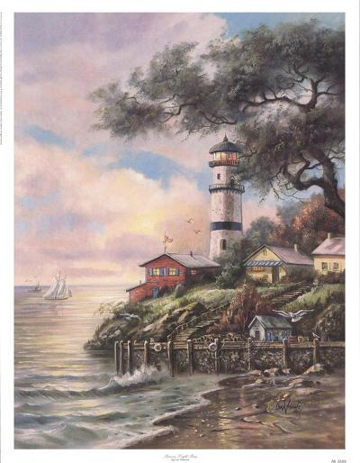 Beacon Light Bay-Carl Valente-Art Print