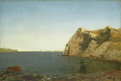 Beacon Rock, Newport Harbour, 1857-John Frederick Kensett-Giclee Print