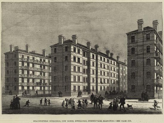 Beaconsfield Buildings, New Model Dwellings, Stroud-Vale, Islington--Giclee Print