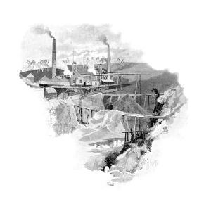 Beaconsfield Gold Mines, Tasmania, Australia, 1886