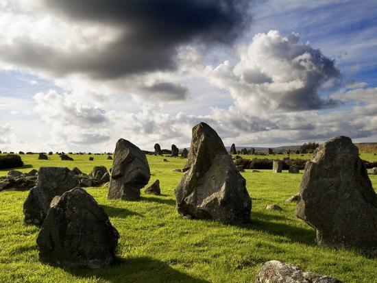 Beaghmore Stone Circles in County Tyrone, Northern Ireland-Chris Hill-Photographic Print