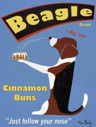 Beagle Buns-Ken Bailey-Premium Giclee Print