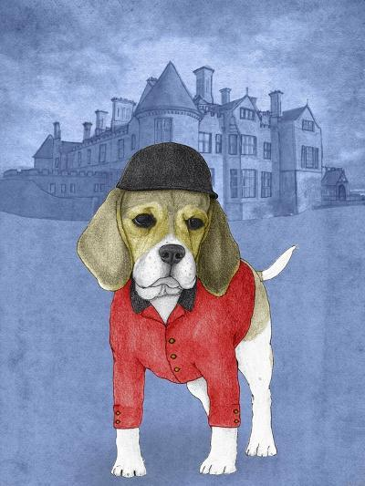 Beagle with Beaulieu Palace-Barruf-Art Print