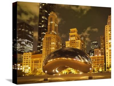 Bean at Night-Jessica Levant-Stretched Canvas Print