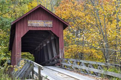 Bean Blossom Covered Bridge in Brown County, Indiana, USA-Chuck Haney-Premium Photographic Print