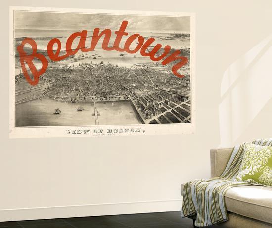 Beantown - 1870, Boston Bird\'s Eye View on July 4th, Massachusetts ...