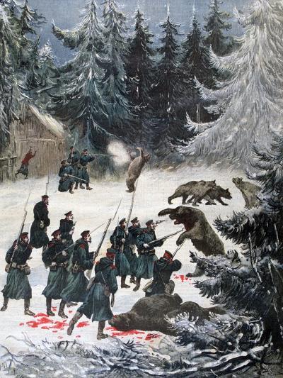 Bear Attack, Russia, 1892-Henri Meyer-Giclee Print