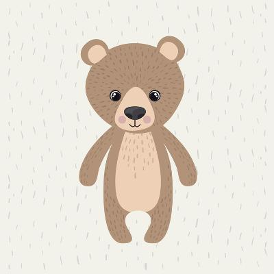 Bear Cute Wildlife Icon-Paulo Gomez-Art Print