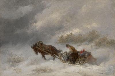Bear Hunters in the Blizzard-Nikolai Yegorovich Sverchkov-Giclee Print