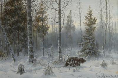 Bear in the Winter Forest, 1907-Count Vladimir Leonidovich Muravyov-Giclee Print