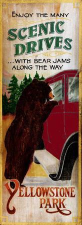 Bear Jams Lodge Cabin Vintage