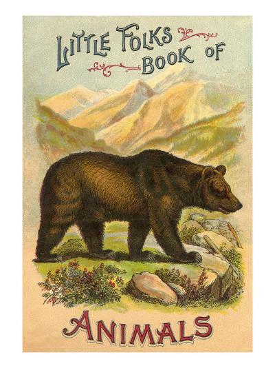 Bear on Book Cover--Art Print