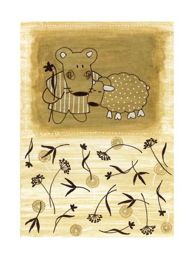 Bear Shepherd and Lamb--Art Print