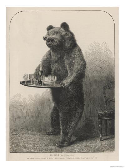 Bear Waiter--Giclee Print