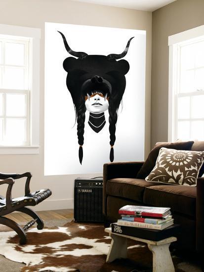 Bear Warrior-Ruben Ireland-Giant Art Print