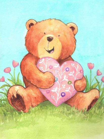 Bear with Heart-Melinda Hipsher-Giclee Print