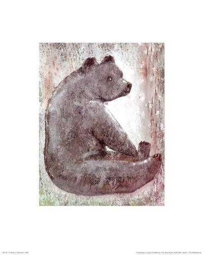Bear-Silvana Crefcoeur-Art Print