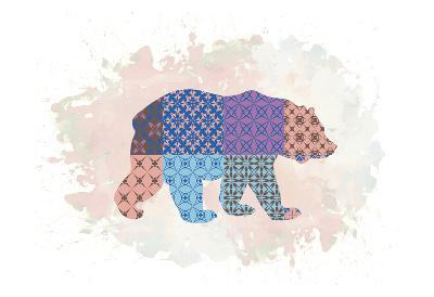 Bear-Victoria Brown-Art Print