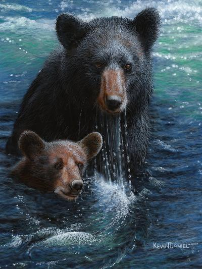 Bearly Swimming-Kevin Daniel-Art Print