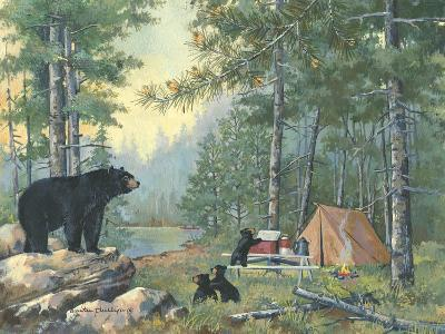 Bears Campsite-Anita Phillips-Art Print