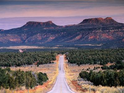 Bears Ears Buttes from Cedar Mesa, Moki Dugway Road, Manti-La Sal National Forest, USA-Witold Skrypczak-Photographic Print