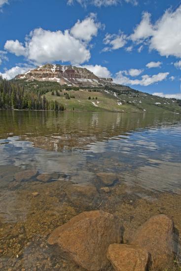 Beartooth Butte Reflects in Beartooth Lake in the Absaroka Range-Gordon Wiltsie-Photographic Print