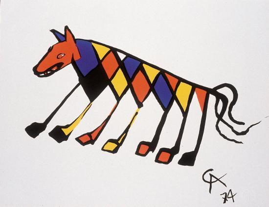Beastie-Alexander Calder-Art Print