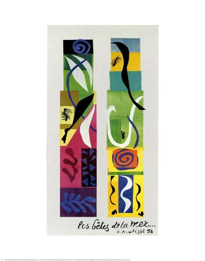Beasts of the Sea-Henri Matisse-Art Print