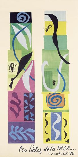 Beasts of the Sea-Henri Matisse-Art Print