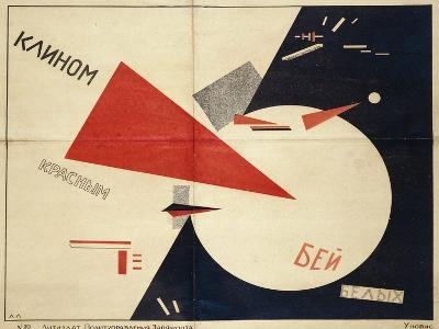 Beat the Whites with the Red Wedge (The Red Wedge Poster), 1919-El Lissitzky-Giclee Print