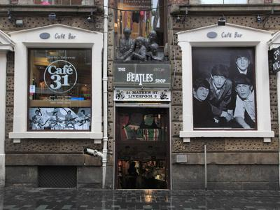 Beatles Shop, Mathew Street, Liverpool, Merseyside, England, United Kingdom, Europe-Wendy Connett-Photographic Print