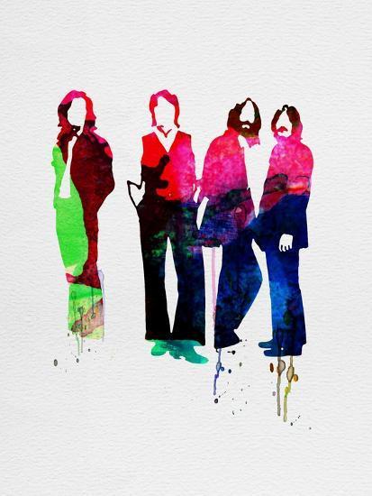 Beatles Watercolor-Lora Feldman-Premium Giclee Print
